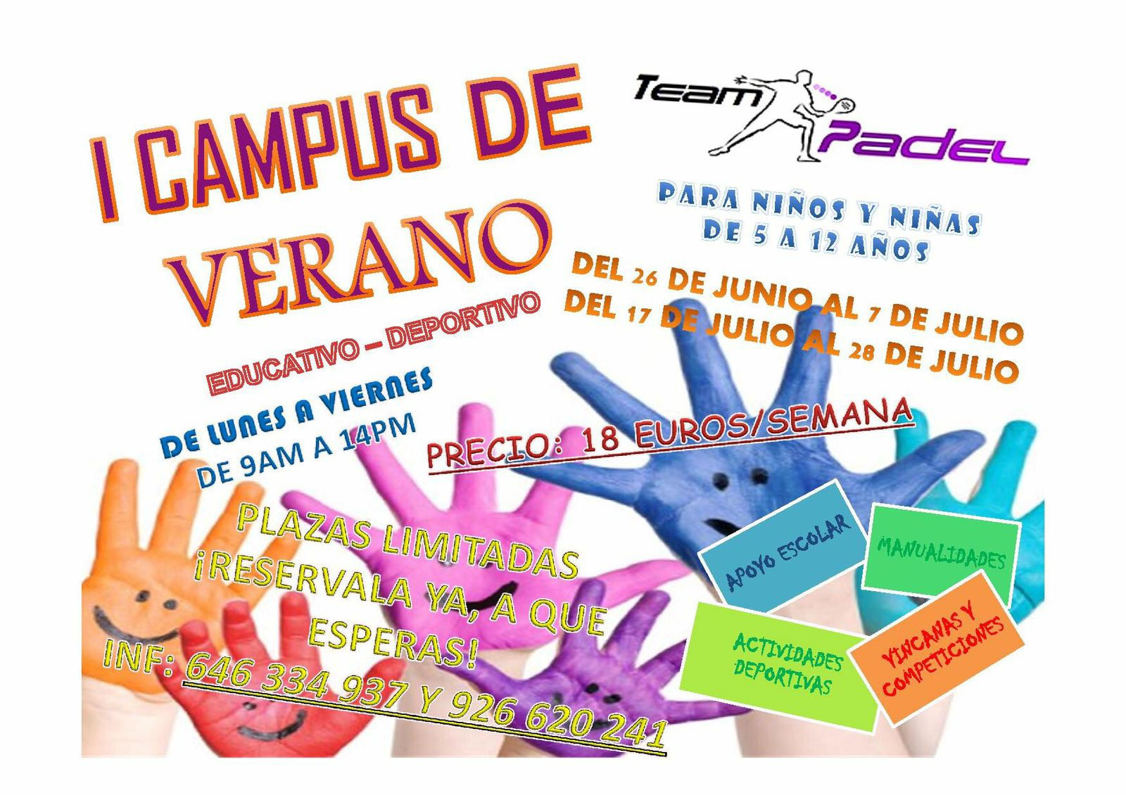 I Campus de Verano Team Padel